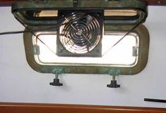 We learned that ventilation is one of the most important things to summertime comfort on the boat. Wish I'd known about these neat fans when we were upgrading ours -- they're a lot better than the solar vents we used!