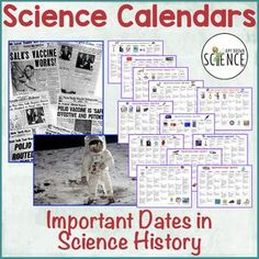 These calendars provide a fun science fact or event for every single day of the year. Perfect for bulletin board or wall display.