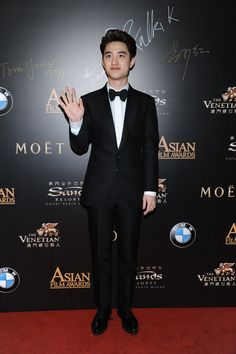 South Korean superstar Doh Kyung-soo at the 9th Asian Film Awards 150325