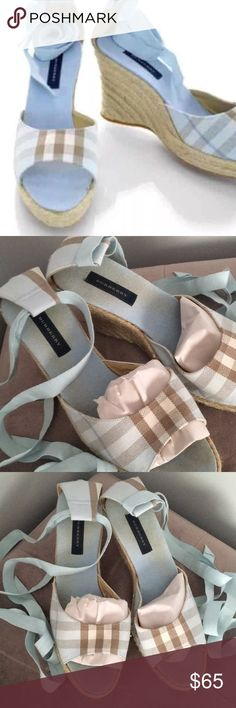 BURBERRY BABY BLUE ESPADRILLES 37 AUTHENTIC Beautiful good condition Burberry Shoes Espadrilles