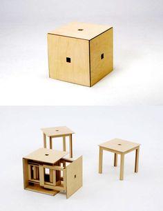 awesome-design-ideas-Space-saving-Cube6-dining-set-Naho-Matsuno-1