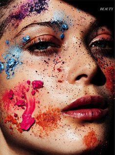 makeup Larissa Hoffman by Marcus Ohlsson for Harper's Bazaar Germany June July…