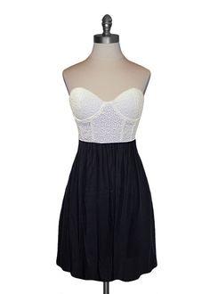 Theme - Eyelet Bustier Dress