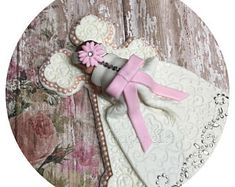 1 fondant baby girl in dress 1 6 cross* * * Fondant Cake Toppers, Fondant Baby, Fondant Cakes, Cross Cakes, Baptism Decorations, Baptism Party, Christening Gowns, Sugar Art, Gum Paste