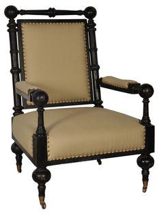"SOF170AB  Patron Relax Chair  Antique Black    31"" x 35"" x 45"" H"