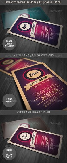 Retro Style Business Card - graphicriver.net/item/retro-style-business-card/3528889?ref=cruzine