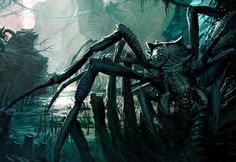 Arachno-Claw, from The World of Kong Alien Concept Art, Creature Concept Art, Creature Feature, Creature Design, Godzilla Franchise, Cool Monsters, Skull Island, King Kong, Fantasy Creatures