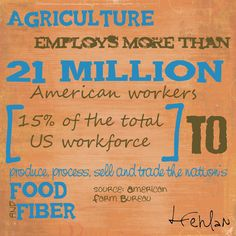 #Agriculture employs more than 21 million american workers. #agfact #farmlife