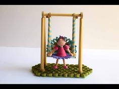 Paper Swing with Quilling Doll/ Quilling Show Piece/3D Quilling Girl/Quilled Swing - YouTube