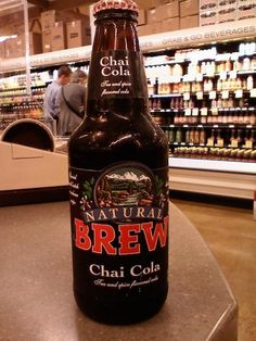 This drink had me intrigued from when I first saw it since I love cola and chai. I'm so glad I wasn't disappointed. The soda has a really. Cola Drinks, Disappointed, Summer Drinks, Chai, Beer Bottle, Brewing, Pop, Natural, Unique