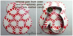 Sugartown Sweets: Melted Peppermint Ornaments~Mittens!