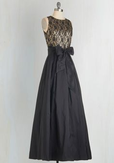 Mingle With Magnificence Dress. You draw attention as you saunter through the ballroom in this gorgeous black gown. #black #modcloth