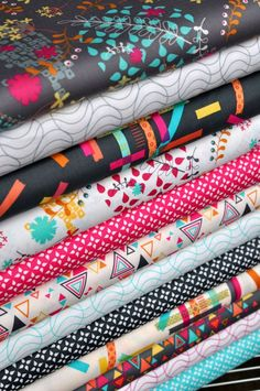 My new fabric collection with Timeless Treasures.  Yay, 'Washi'! ^_^