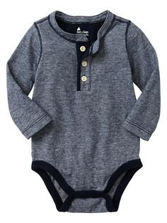 Gap | Thin-striped henley bodysuit