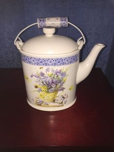 "Hallmark Marjolein Bastin ""Natures Sketchbook Coffee Teapot   eBay"