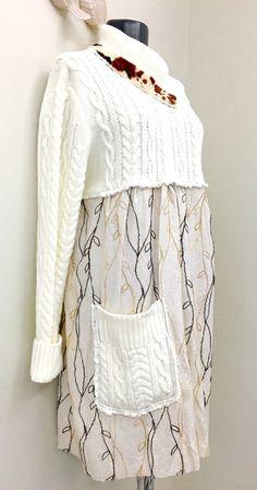 Boho clothing Upcycled Clothing Bohemian Dress by 16October