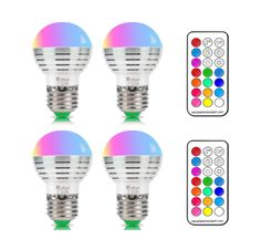 NetBoat Bombillas Led Colores, RGBW 3W E27 LED Colores Cambiantes