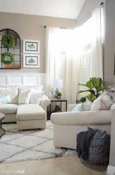 Living Room sofa Pakistan Luxury Sania Maskatiya Luxury Pret Wear for Fall Winter 2017 Air Lounge, Lounge Sofa, Modern Rustic Decor, Rustic Room, Living Room Sofa Design, Living Room Modern, Tall Curtains, Living Room Plants, Room Inspiration