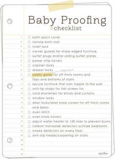 Baby Proofing Checklist babies kids baby parents children parenting how to tutorials parenting tips baby proofing New Parents, New Moms, Baby Boys, Mom Baby, Carters Baby, Baby Birth, Toddler Boys, Adoption, Baby Safety