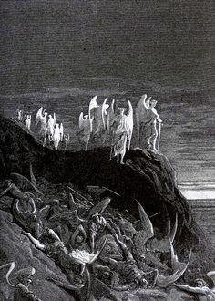 nigra-lux DOR Gustave Illustration for John Milton s Paradise Lost Orig Lic Ed Classical Art, Classic Art, Horror Art, Gustave Dore, Satanic Art, Biblical Art, Dark Art, Angel Art, Occult Art