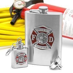 Firefighter Flask Gift Set | Shared by LION
