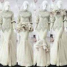 Muslimah Wedding Dress, Muslim Wedding Dresses, Muslim Dress, Event Dresses, Bridal Dresses, Dress Brokat, Kebaya Dress, Hijab Dress Party, Moslem Fashion