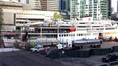 It spent years sitting at the foot of Yonge Street in Toronto Harbour, but former floating restaurant Captain John's is finally being dismantled. Toronto, Floating Restaurant, Yonge Street, Gta, Ontario, Past, Photo Galleries, Street View, Canada