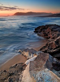 Sedgefield main beach in the Garden Route of South Africa by Jon Reid
