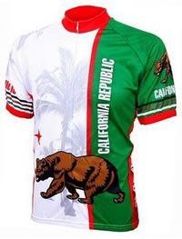 World Jerseys Men's California Republic Cycling Jersey