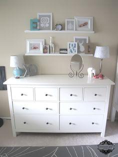 Love the shelves above the dresser.