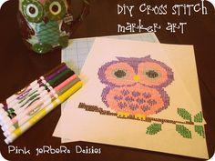 DIY Cross Stitch Marker Art