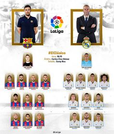 Pocos minutos para el FC Barcelona - Real Madrid. Alineaciones: