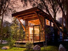 Tiny home modern cabin style