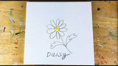 Easy Acrylic Painting on Canvas/ Daisy Painting for Beginners/ Step by S... Simple Acrylic Paintings, Floral Paintings, Acrylic Painting Canvas, Daisy Painting, Painting Tutorials, Amazing Art, Palette, Make It Yourself, Texture