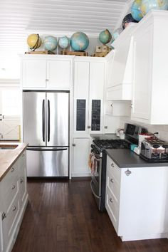 white cabinets, stainless steel appliances, this is it!!!!