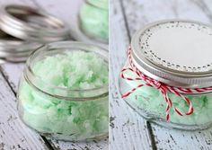 Bastelideen für DIY Geschenke zu Weihnachten, Peeling selber machen