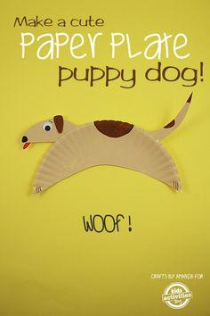 Paper Plate Crafts: Cute Doggy
