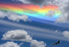 circumhorizontal arcs, otherwise known as a fire rainbow, are created when light from a sun that is at least 58 degrees above the horizon passes through the hexagonal ice crystals that form cirrus...