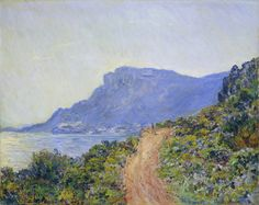 Claude Monet_La Corniche near Monaco_1884 https://dashburst.com/david-goldberg/298