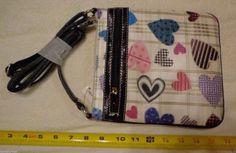 Womens Heart Shoulder Strap Bag White Black Blue Pink Purple New Messenger