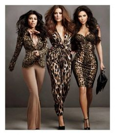 Sisters Kim, Khloe and Kourtney Kardashian, pose showing off  their new clothing line for their Kardashian Kollection for Sears ad campaign, photographed by Annie Leibovitz in May 2011.