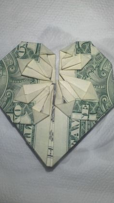 How to Fold a Dollar Into a Heart (with Pictures) - wikiHow