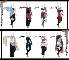 Naruto Adoptable Outfit Set 9 - Closed by Orangenbluete on deviantART