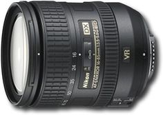 Nikon - AF-S DX NIKKOR 16-85mm f/3.5-5.6G ED VR Standard Zoom Lens - Black, 2178