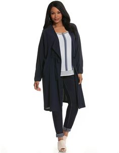 Woven cinched waist duster by Lane Bryant | Lane Bryant