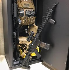 Our Agile 52 is what you would call top-notch Ultralight gun storage. It's ultralight, heavy-duty, and super organized! You can stack it with one Agile make it a Quad, or even a full wall system 🤯 Weapon Storage, Gun Storage, Storage Systems, Zombie Weapons, Weapons Guns, Zombie Apocalypse, Hidden Gun Safe, Firearms, Shotguns