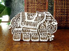 Elephant Stamp, Hand Carved Wood Printing Block from India, by DelhiDaze, $26.00