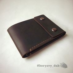 Leather Wallet Brown Wallet Bifold Mens Wallet от KoryavyDub