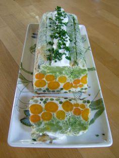 Veggie terrine ... love the carrot polka dots.