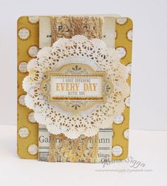 Every day card - My Minds Eye and Tattered Angels mists